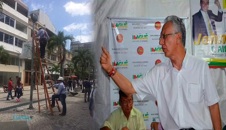 Empapelan alcalde Jaramillo por contrato de alumbrado navideño