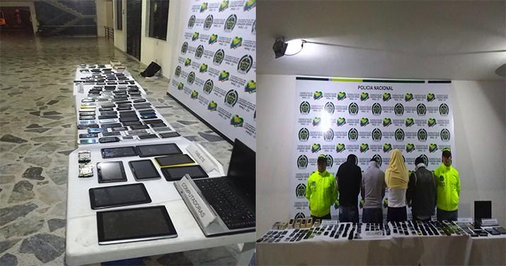 Cae banda considerada la mafia de los celulares en Ibagué