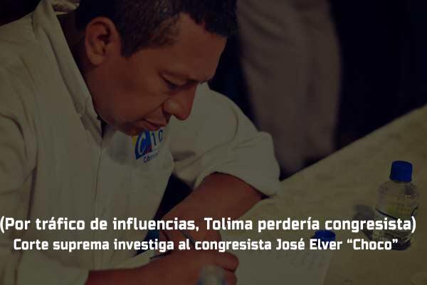"""Corte suprema investiga al congresista José Elver """"Choco"""""""