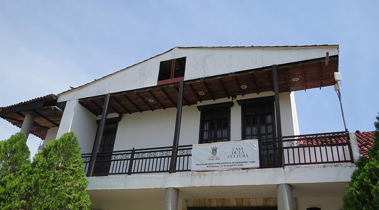 Así avanzan obras de adecuación de la Casa de la Cultura de Natagaima