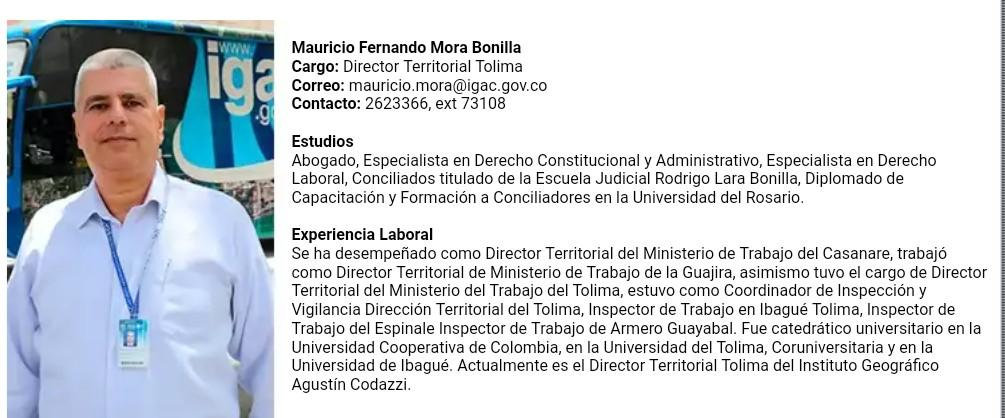 El director acosador del IGAC, una joya de funcionario en el Tolima