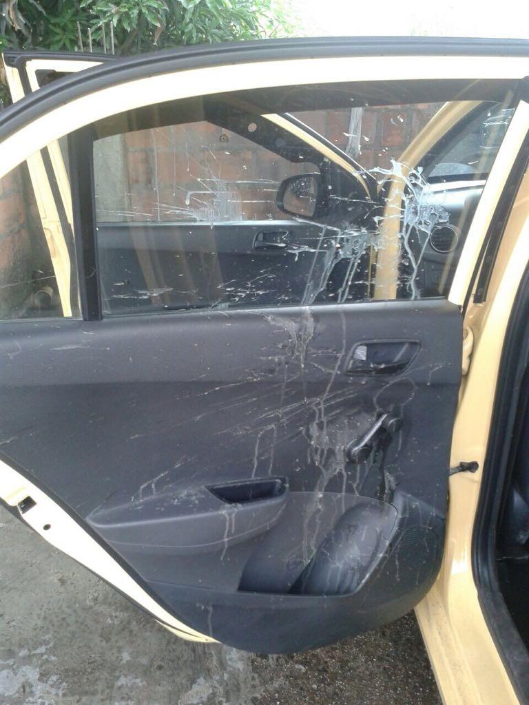 Con huevos podridos fueron atacados taxistas que no se unieron al paro en Ibagué