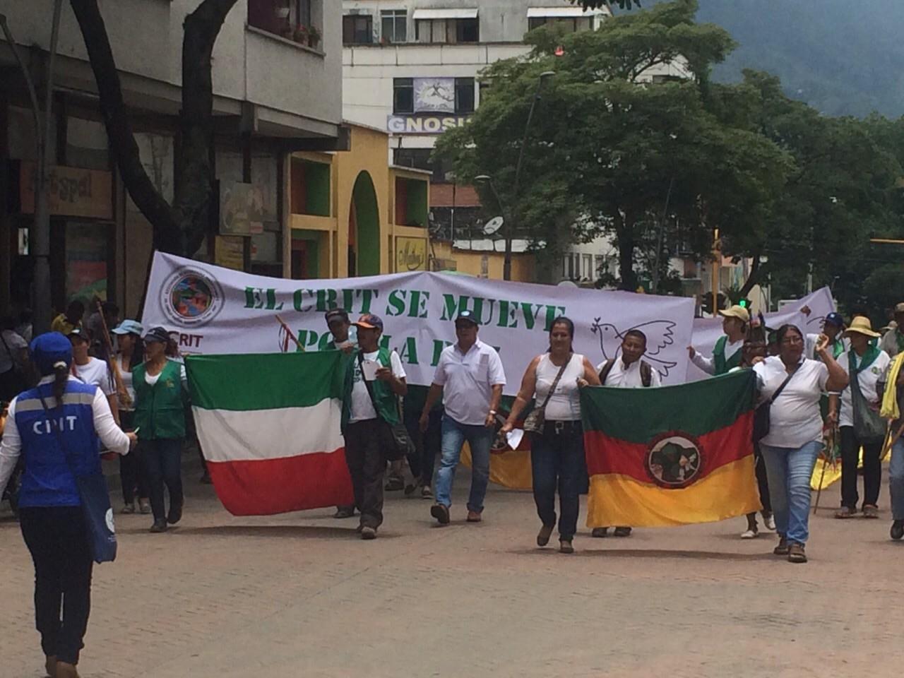 Indígenas del Tolima Marcharon por la paz y exigieron terminar la Guerra