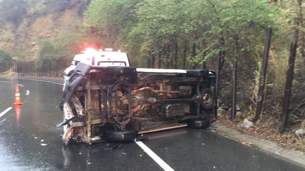 Ambulancia de Ibagué se volcó en la vía a Bogotá