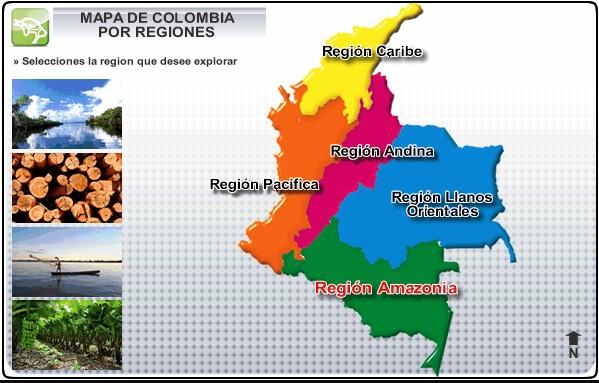 COLOMBIA TENDRÁ 5 MACRO DEPARTAMENTOS