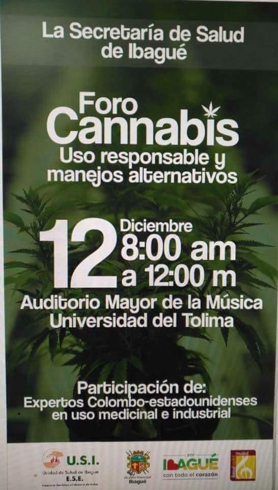 Alcalde de Ibagué hizo su segundo foro de la marihuana