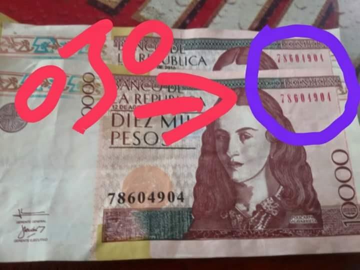 Montones de Billetes de 10 mil falsos en las calles de Ibagué, detectan autoridades