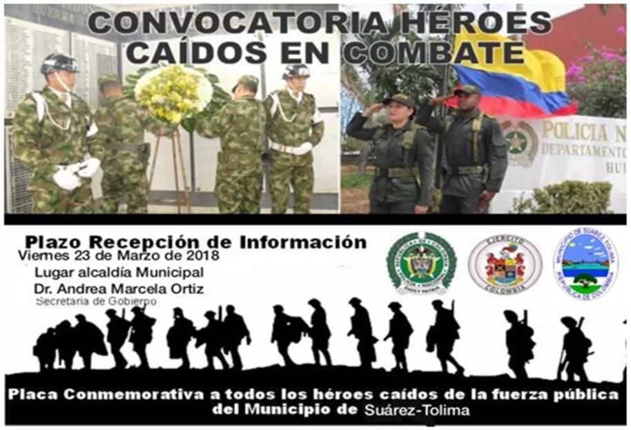 Convocatoria héroes caídos en combate