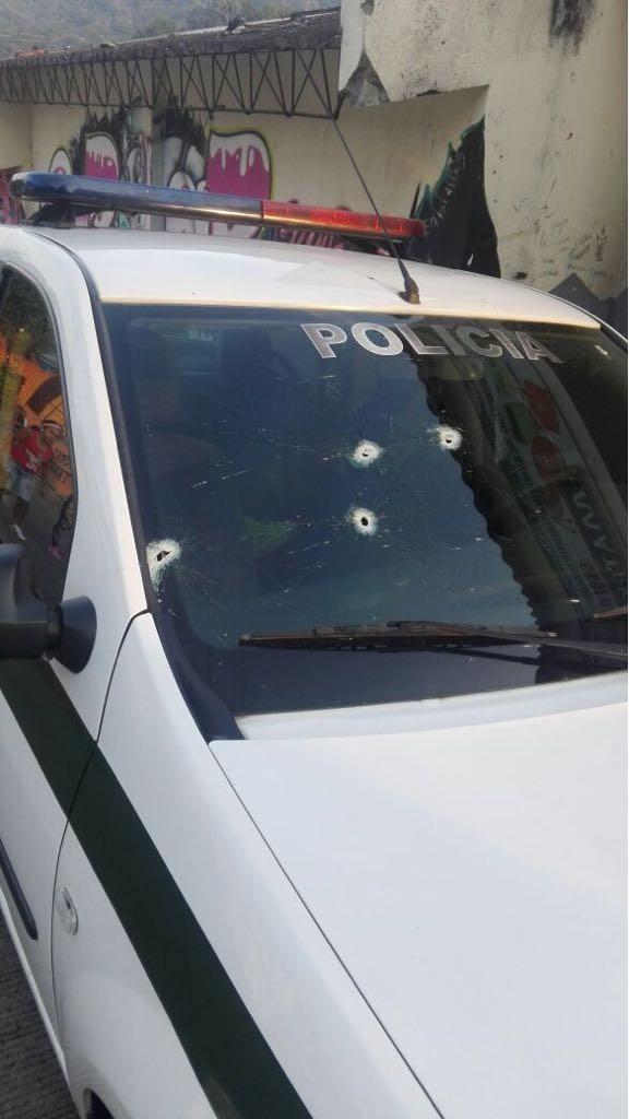 Recibieron a bala a la policía en el barrio el bosque de Ibagué