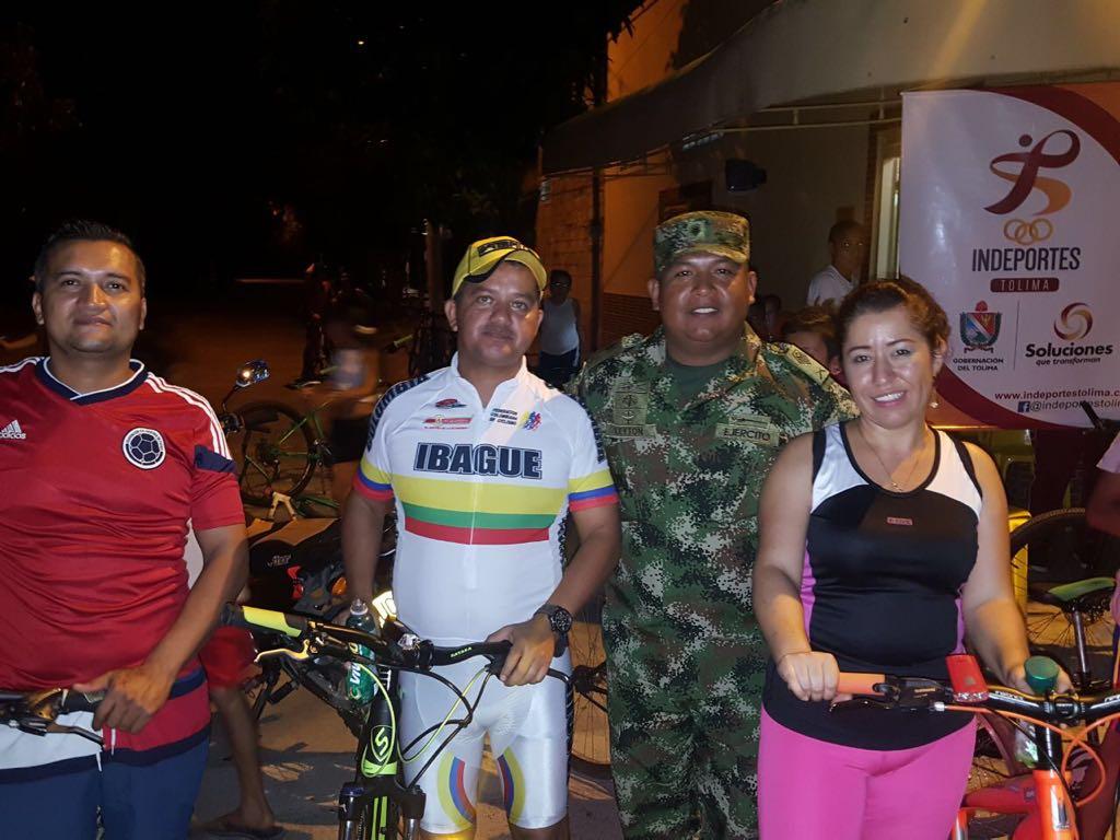 Éxito total en ciclo paseo en Suárez Tolima