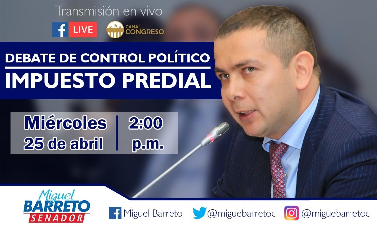 Congreso debate hoy el exagerado aumento del predial en el Tolima