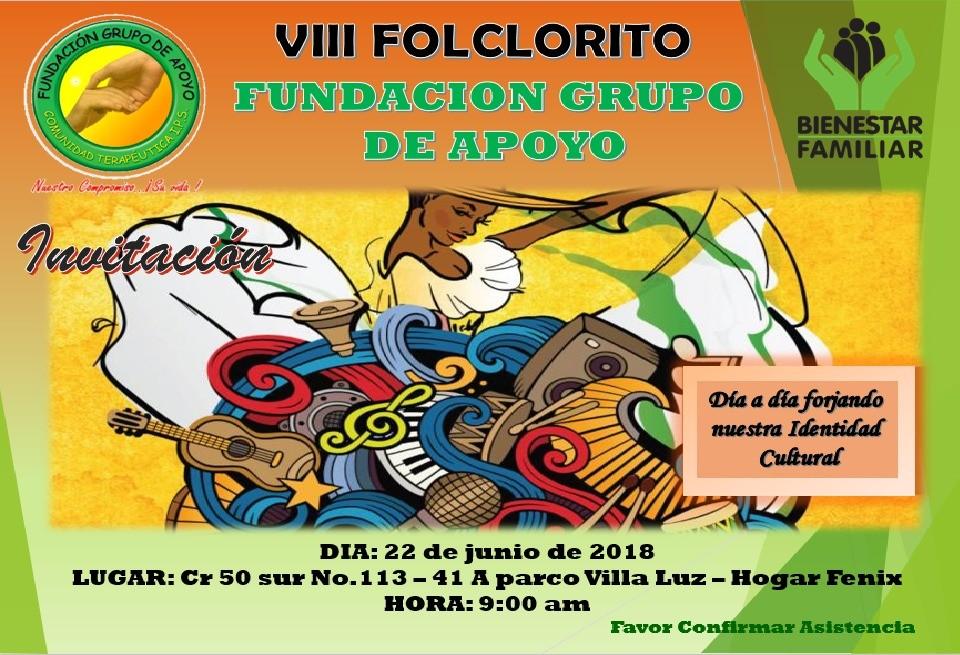 Vlll Folclórito fundación grupo de apoyo