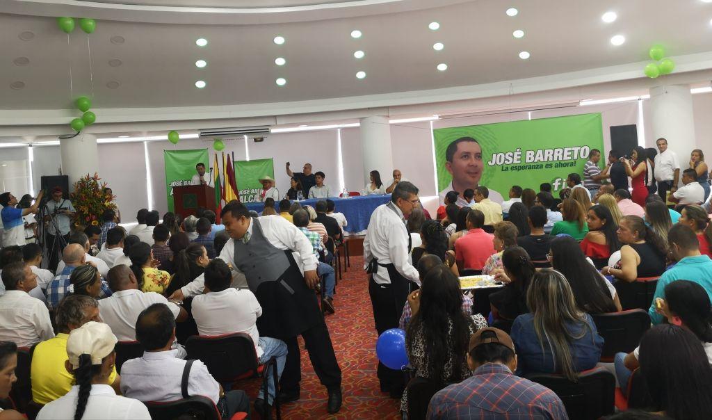 """Barreto lanzó campaña a la alcaldía bajo el lema """"la esperanza es ahora"""""""