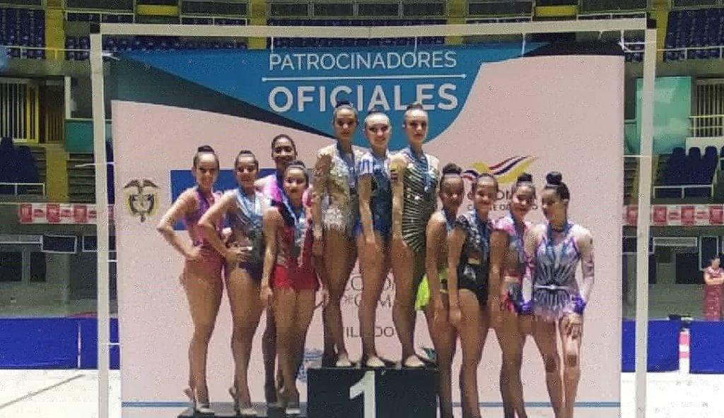 Impecable presentación de liga de gimnasia del Tolima en Cali