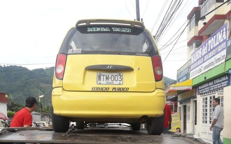 Sin revisión técnico mecánica andaban taxis en Ibagué
