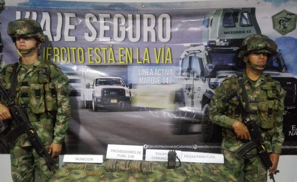 Encuentran material de guerra, del extinto frente 21 en el Tolima