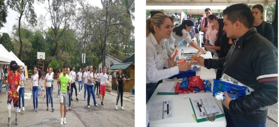 Celebración  día de la salud en la  universidad del Tolima