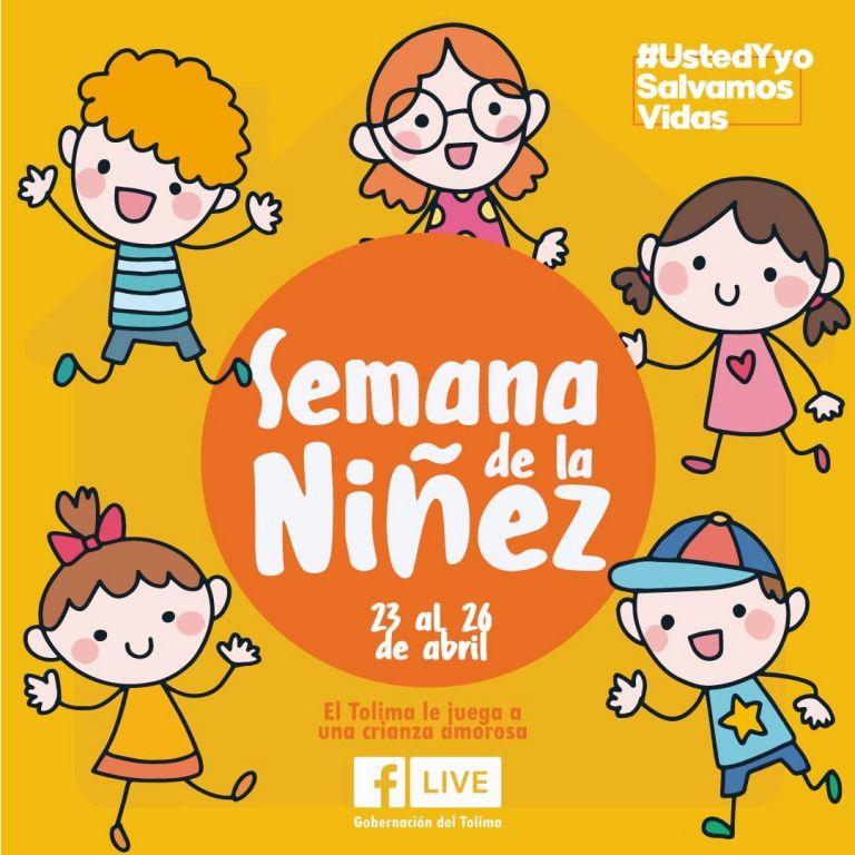 Celebran la semana de la niñez vía virtual en el Tolima
