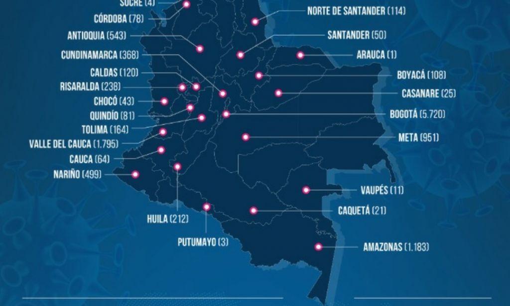 5 nuevos casos de covid-19 en el Tolima, y una persona fallecida