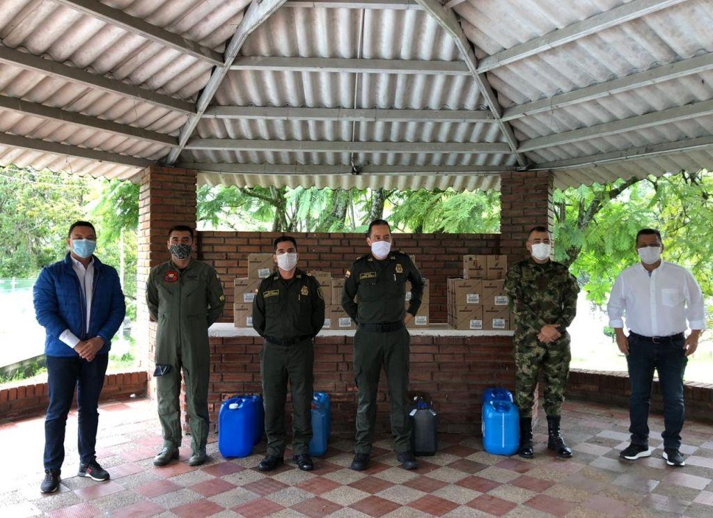 Fuerza pública recibió piezas de bioseguridad, de la gobernación