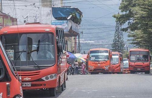 Conductores de buses en Ibagué, trabajan sin protección