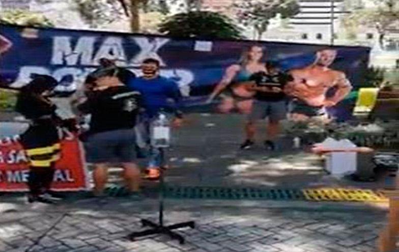 Propietarios de gimnasios protestaron contra Hurtado
