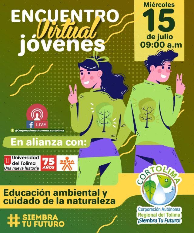 Este miércoles se cumple Encuentro Virtual Jóvenes, Educación Ambiental y Cuidado de la Naturaleza