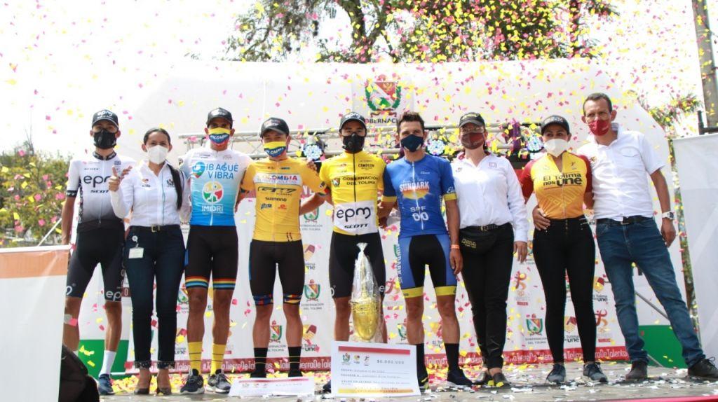 Aldemar Reyes y Yenifer Ducuara, campeones de la Vuelta al Tolima 2020