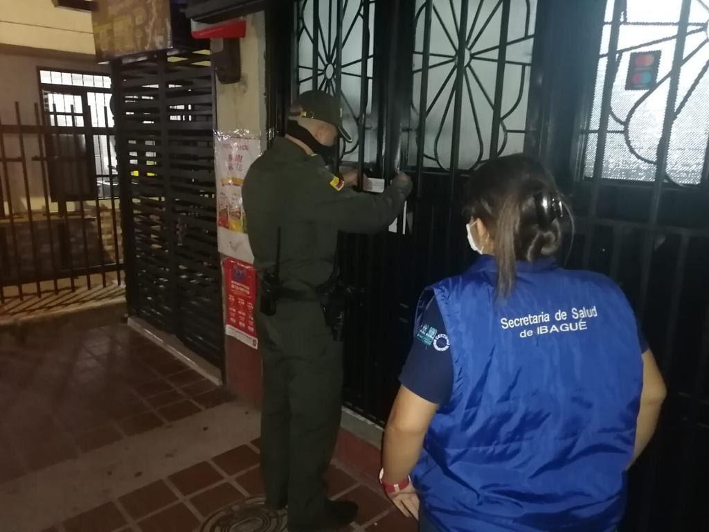 5 negocios cerrados por violar normas sanitarias en Ibagué