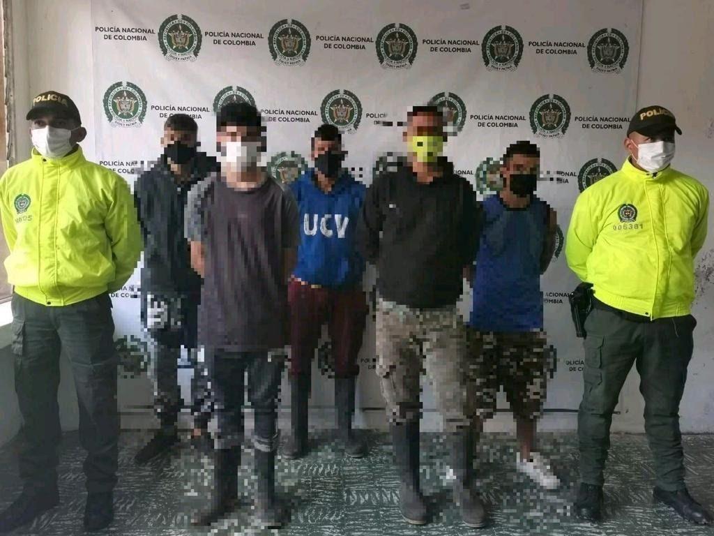 Cayeron  'Los Chukis' en el norte del Tolima.