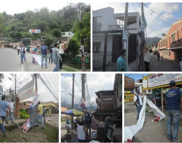 Alcaldía sanciona políticos por contaminación visual pero oculta los nombres