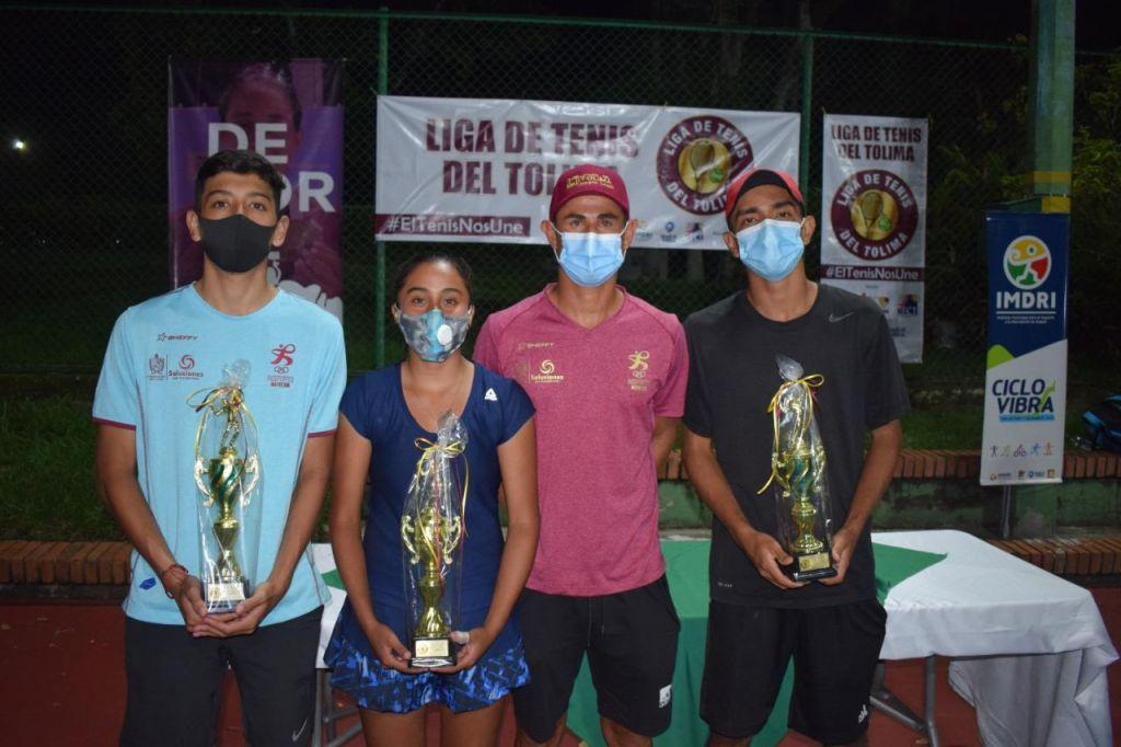 Tres tolimenses salieron campeones en Torneo Nacional de Tenis