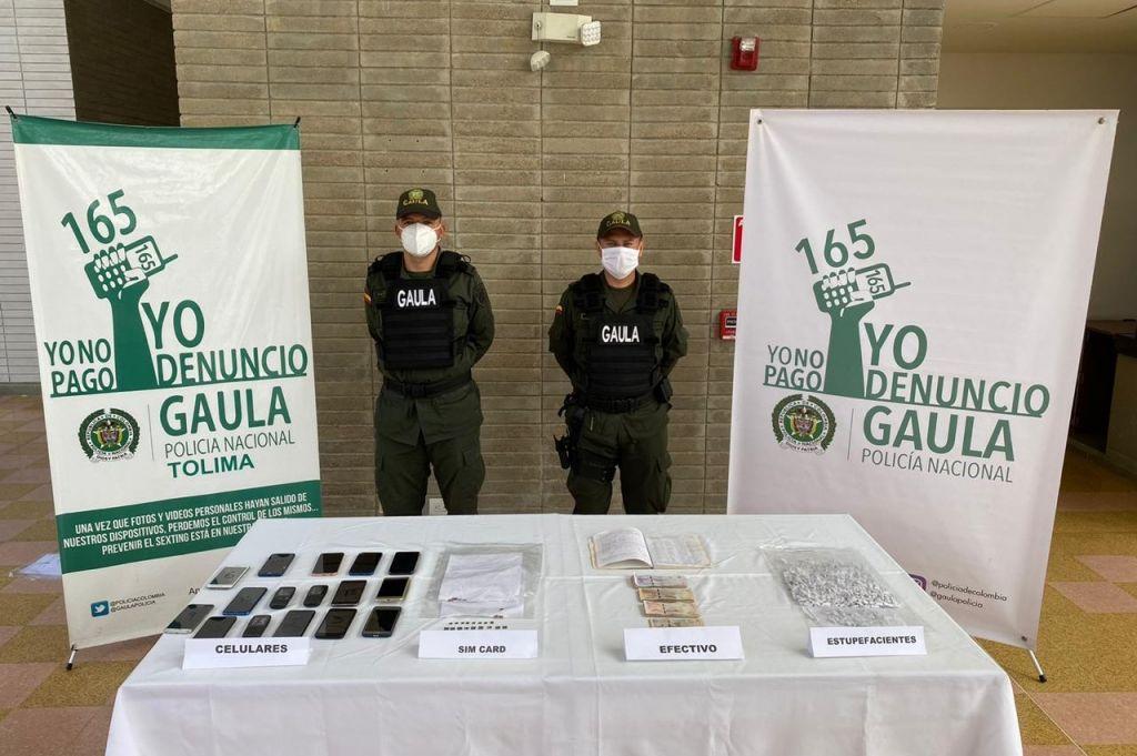 Moderna oficina de extorsión hallan en la cárcel de Picaleña