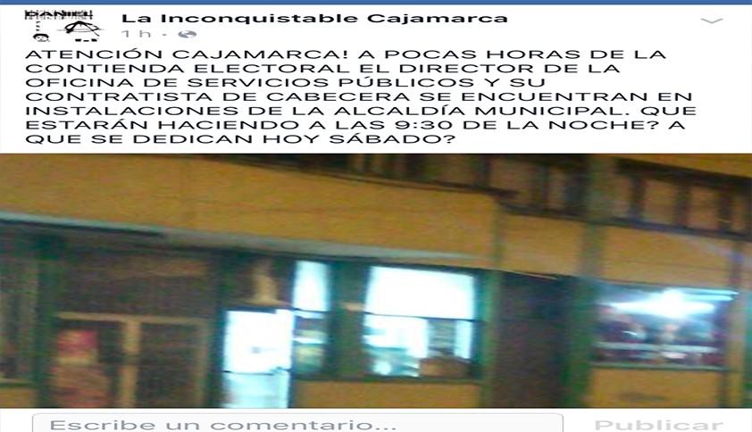 Sospechosa actuación en alcaldía de cajamarca antes de elecciones