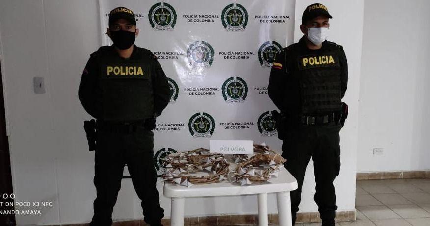 Policía logró incautar gran cantidad de pólvora en el Tolima