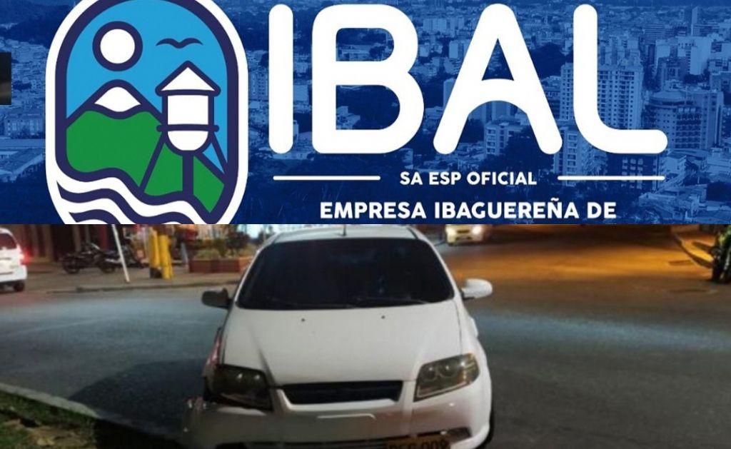 Empleado del IBAL borracho se estrelló en pleno toque de queda