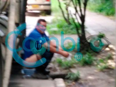Empleado del IBAL hizo del cuerpo en plena calle