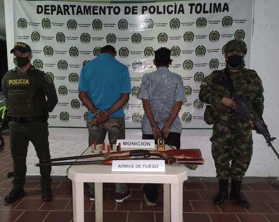 Cuando se disponían a robar fueron capturados