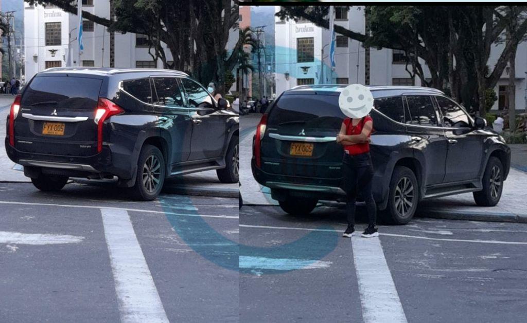 Camioneta de concejal Correa, viola normas de tránsito: denuncia