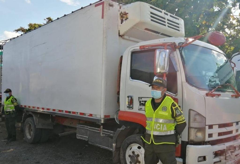 Recuperan vehículo robado en el sur del Tolima.