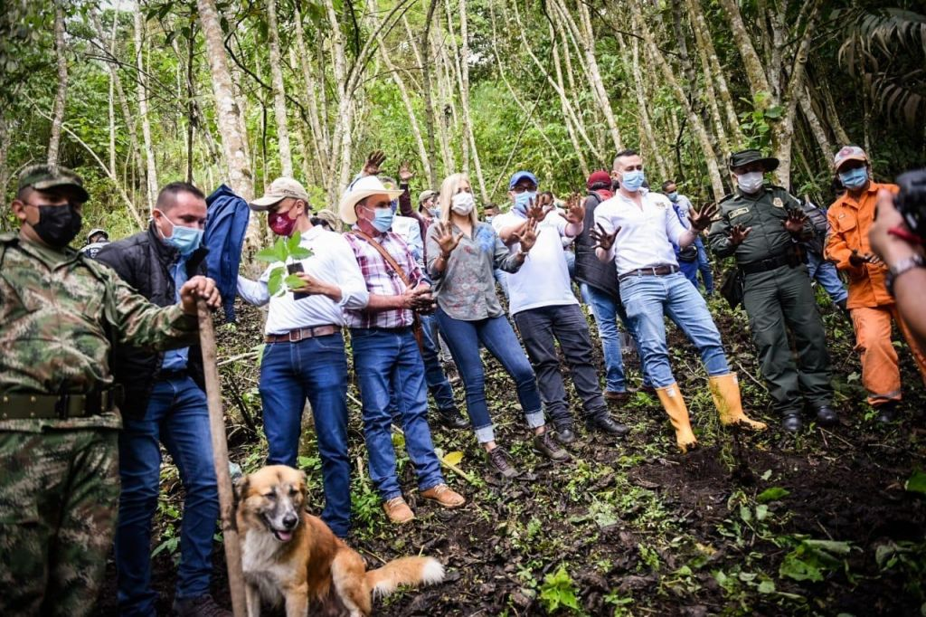 En el día del árbol, Cortolima siembra 1000 plántulas en el Líbano