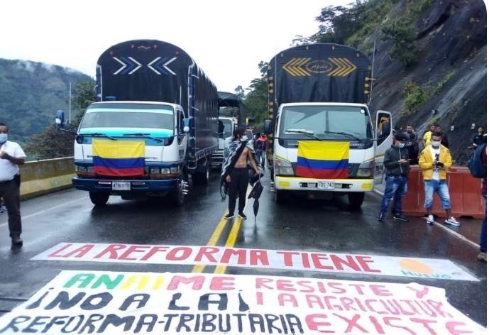 Conozca vías bloqueadas en el Tolima, por el paro nacional