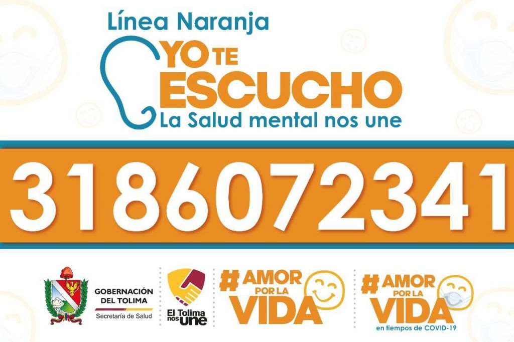Linea de apoyo para salud mental en el Tolima