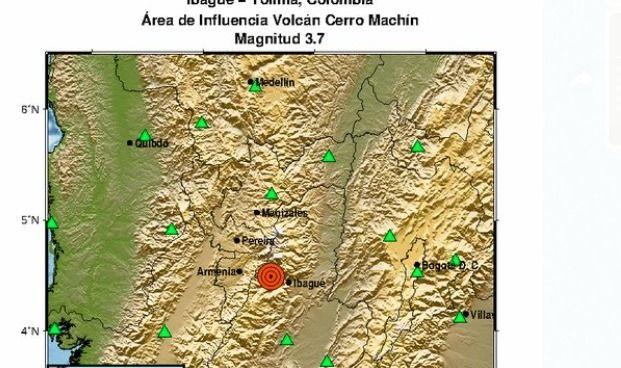 El Machín se hizo sentir. Tembló en Ibagué y Cajamarca