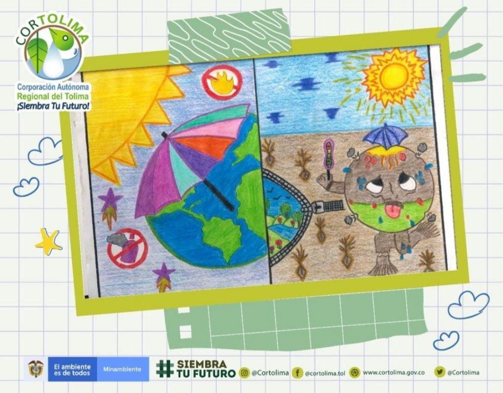 Así pinta el Ozono, por los niños de tres colegios del Tolima