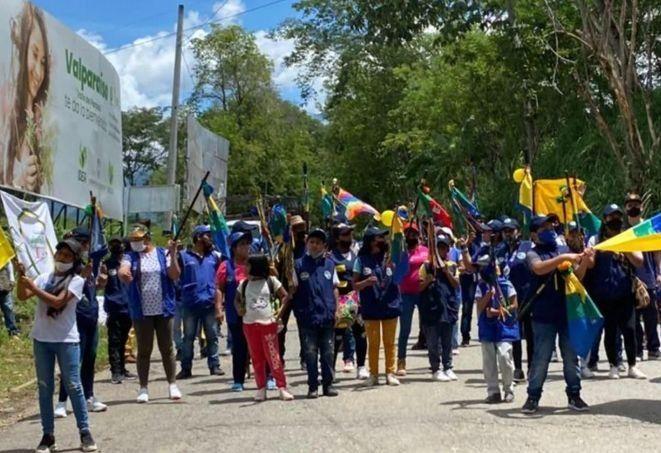 Minga indígena no será desalojada del campo  petrolero de Ortega.