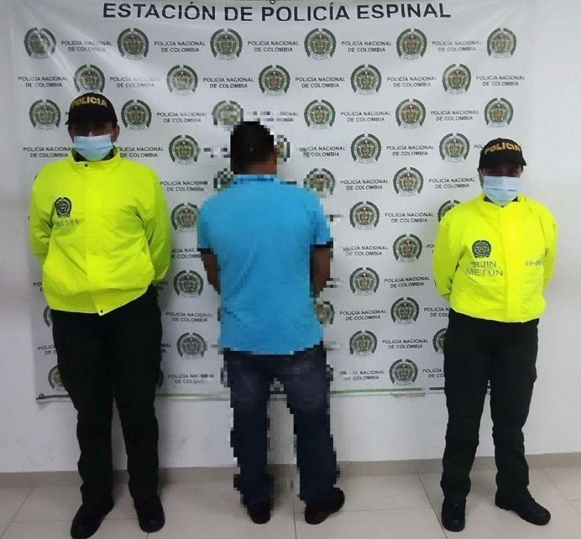 Envían a la cárcel hombre que golpeaba a su pareja en El Espinal.