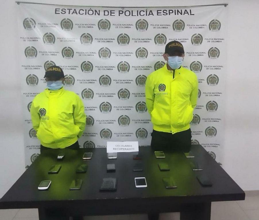 Encuentran celulares robados en el Espinal, abandonados en un lote