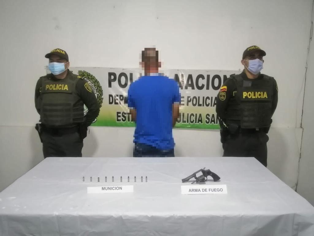 En San Luis capturan sujeto que asesinó una persona.