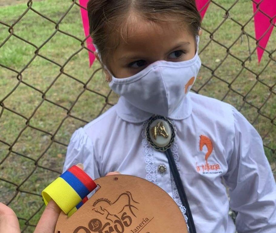 Con 4 años de edad, ya es medalla de Oro, y una campeona